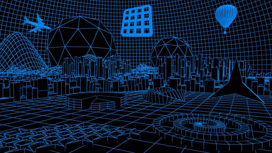 Konkurrenceindlæg #9 for Sketch of 3d grid landscape with field of data
