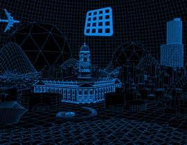 #14 for Sketch of 3d grid landscape with field of data af mrsi