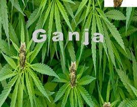 """Nro 4 kilpailuun Create a novel weed themed cover image: Draw/create a novel marijuana themed image, which incorporates the word """"Ganja"""" käyttäjältä eroj"""
