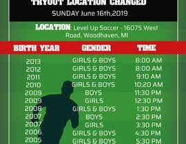 #16 for URGENT Need Revised Tryout Schedule for Soccer af graciellamarcia