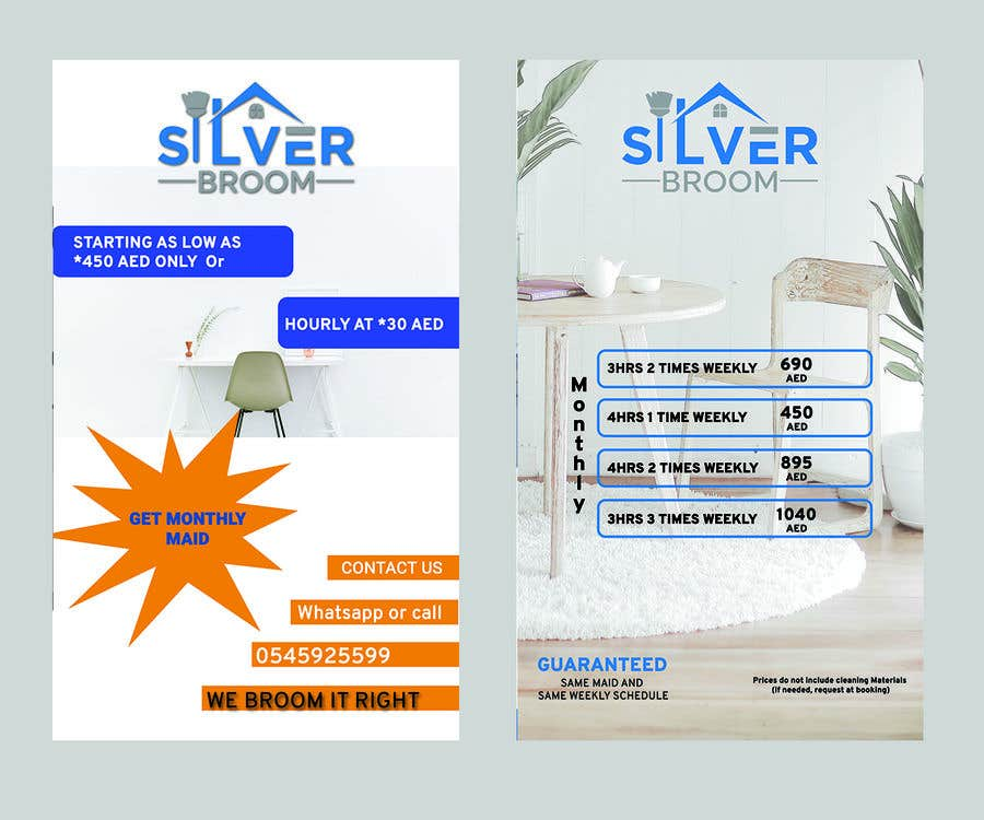 Proposition n°136 du concours Cleaning services - Flyer