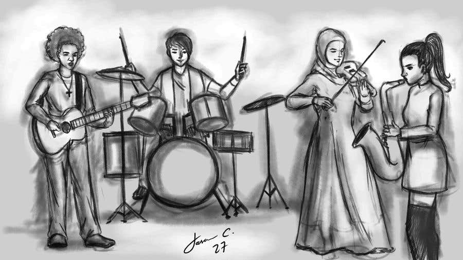 Bài tham dự cuộc thi #14 cho Draw me a picture of a generic band
