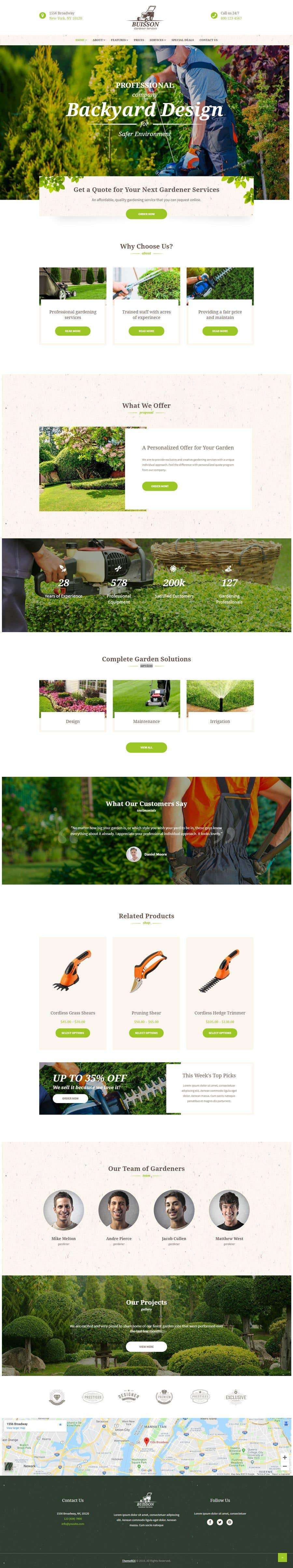 Конкурсная заявка №17 для Residential and Commercial landscape Management company requires website to be built