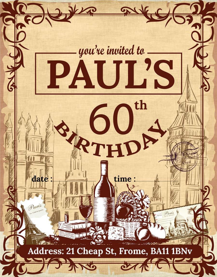 Kilpailutyö #70 kilpailussa Invitation Template for Birthday Party