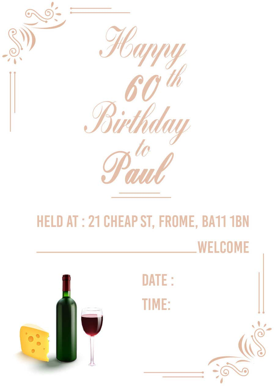 Kilpailutyö #9 kilpailussa Invitation Template for Birthday Party