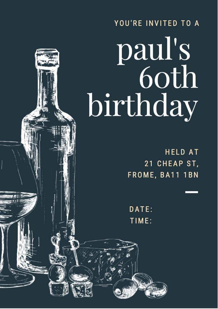 Kilpailutyö #5 kilpailussa Invitation Template for Birthday Party