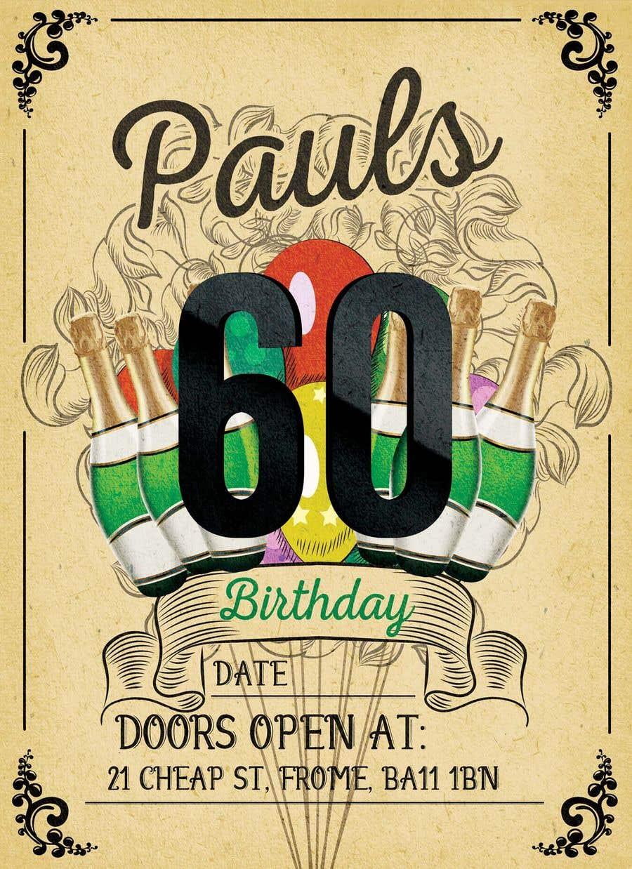 Kilpailutyö #52 kilpailussa Invitation Template for Birthday Party