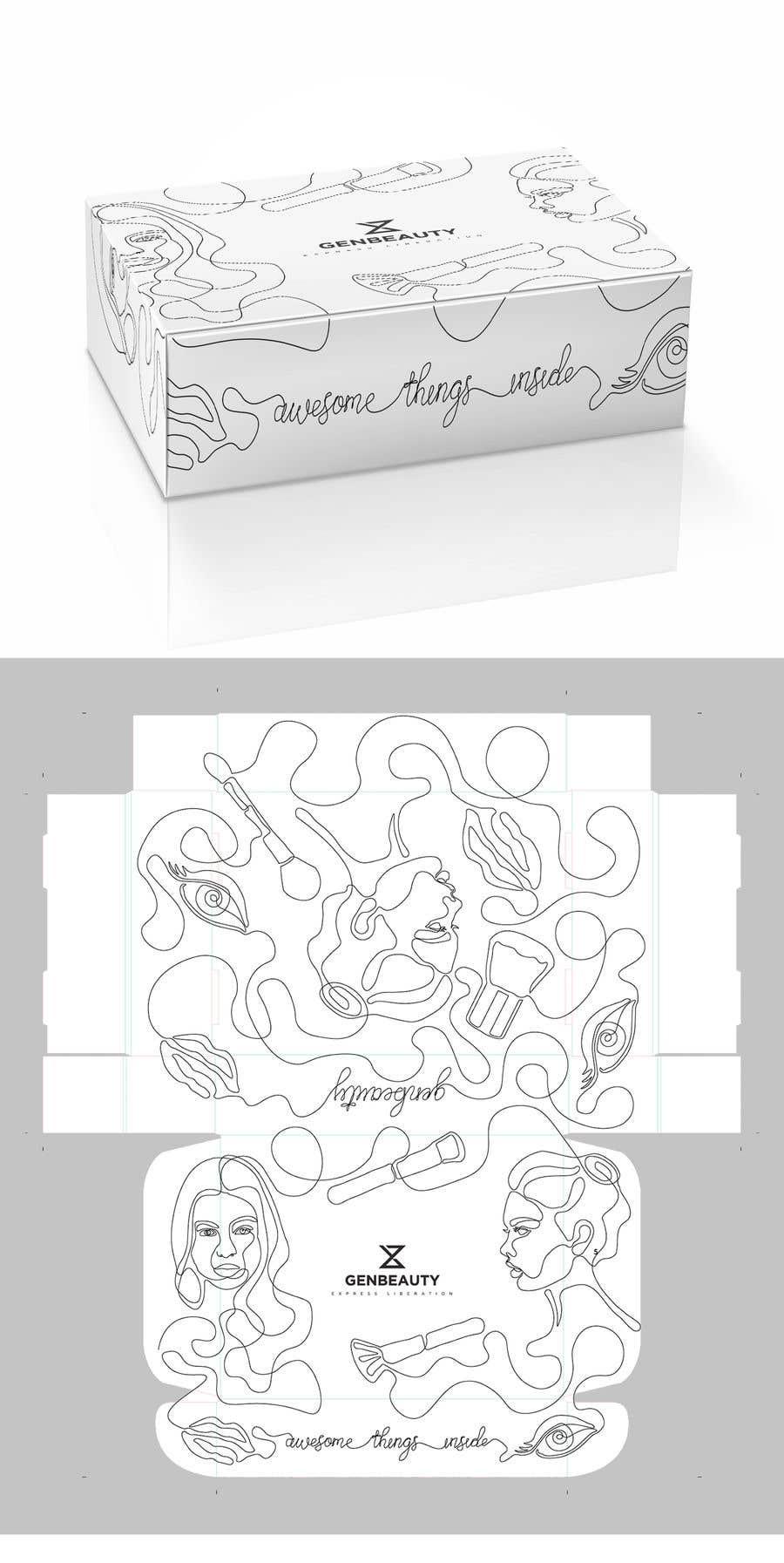 Kilpailutyö #17 kilpailussa One line art packaging design