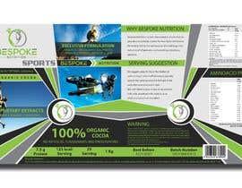 #31 para Bespoke Nutrition  Label Packaging Design por milajdg