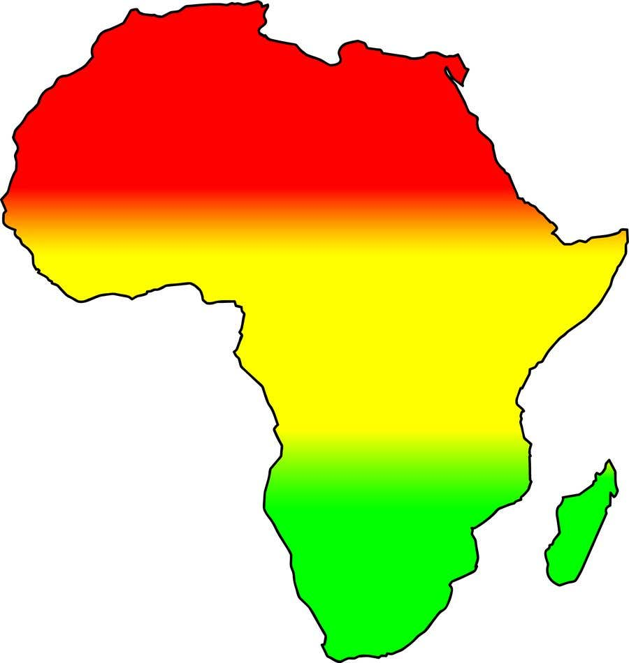 Proposition n°7 du concours A high quality Logo of Africa containing the colours red,gold and green