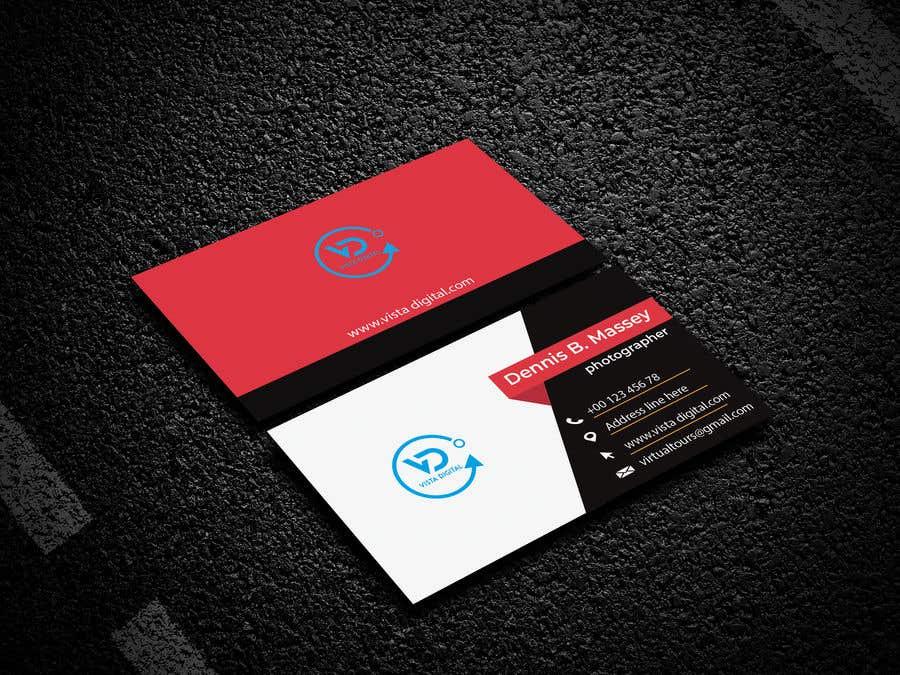Contest Entry #139 for Design business cards for VistaDigital - Virtual tour specialists