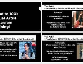 #47 para Powerpoint Presentation for Artist using Instagram for growth por sumaiya505