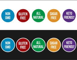 freelancerthebes tarafından create icons for my sales page e.g NON GMO, GLUTEN FREE, SUGAR FREE etc - 21/06/2019 06:47 EDT için no 16
