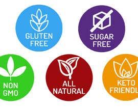 blagojcetreneski tarafından create icons for my sales page e.g NON GMO, GLUTEN FREE, SUGAR FREE etc - 21/06/2019 06:47 EDT için no 17