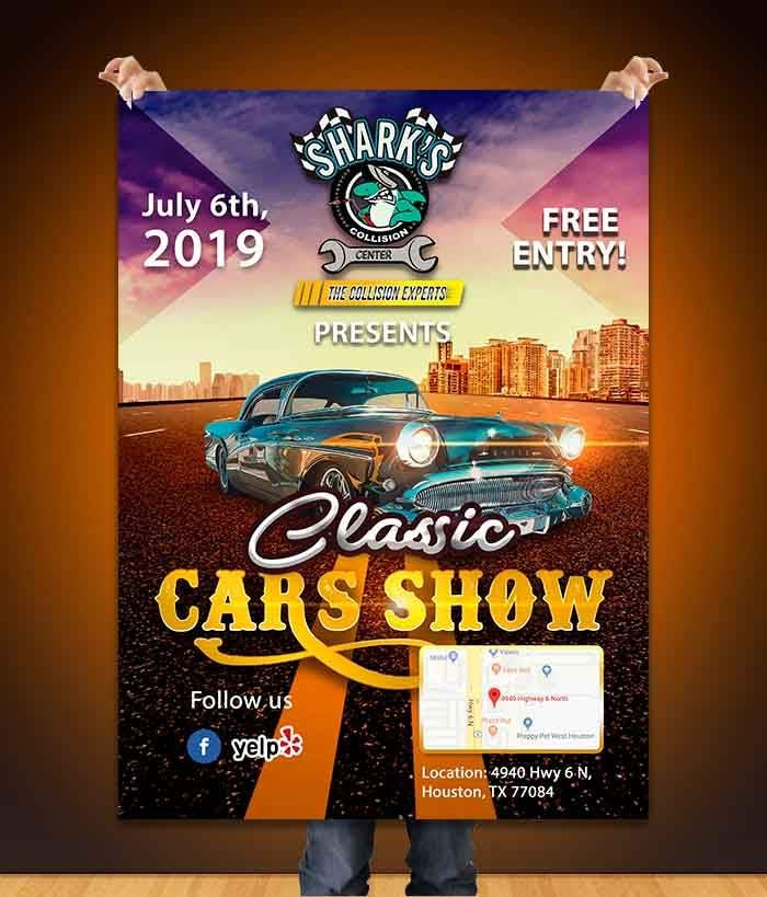Design a poster and flyer for a Car Show   Freelancer
