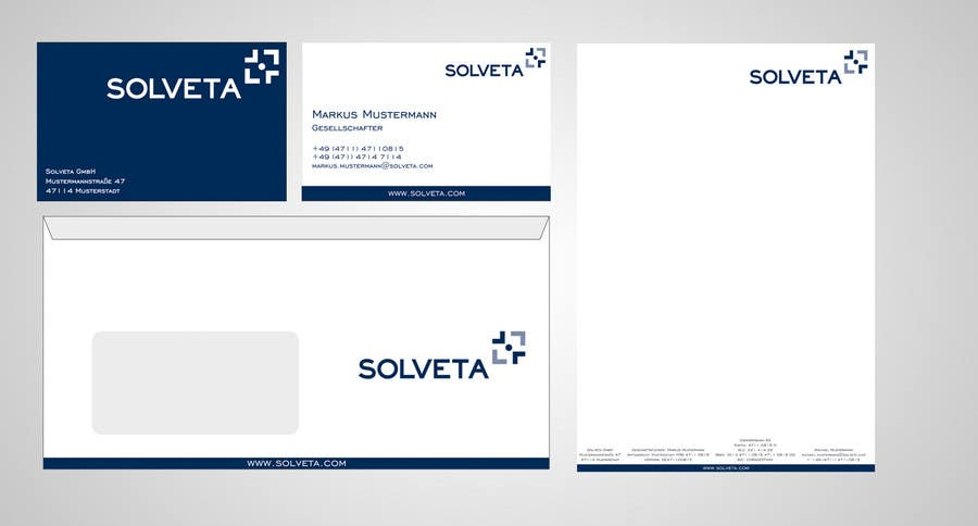 Contest Entry #                                        57                                      for                                         Letterhead, Envelopes, Business Cards and more for Solveta
