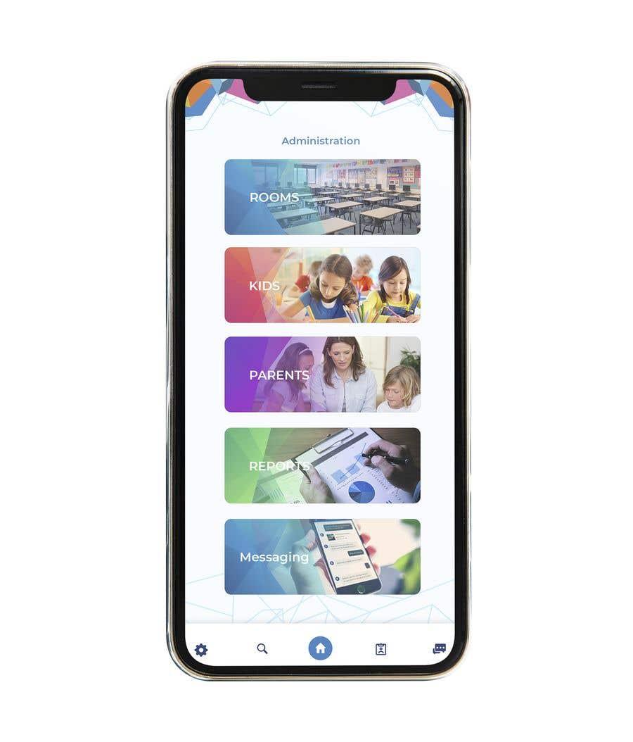 Конкурсная заявка №11 для Daycare Mobile App Design (only some screens)