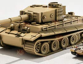 #42 для Render 3D tank files into metal texture от azeemkiyani786