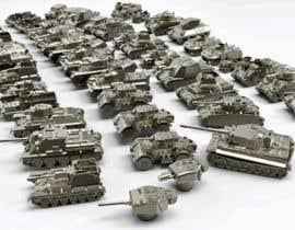 #36 для Render 3D tank files into metal texture от dennisDW