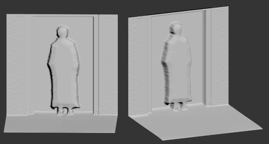 Contest Entry #4 for Create a 3D model based on the enclosed 3D or png file, in relief form.