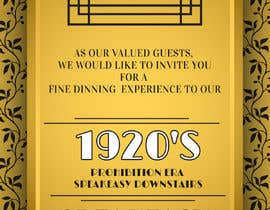 #22 for Speakeasy Invitation af LokeshSharma0204