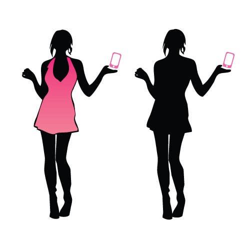 Penyertaan Peraduan #                                        28                                      untuk                                         Logo Design for iPhone bling and repair store targeted towards women