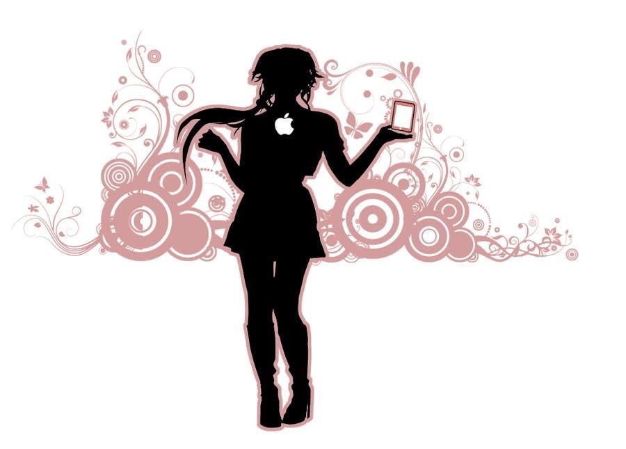 Penyertaan Peraduan #                                        14                                      untuk                                         Logo Design for iPhone bling and repair store targeted towards women