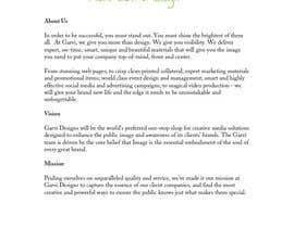 #17 untuk Write Company Profile - Garvi Designs oleh LizzieD