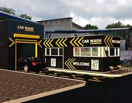 nº 15 pour Exterior design of a coffee kiosk combined with car wash par bnyaminyakut