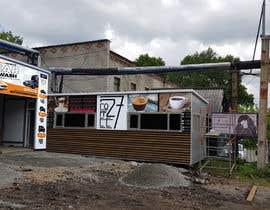 nº 8 pour Exterior design of a coffee kiosk combined with car wash par jaybheda