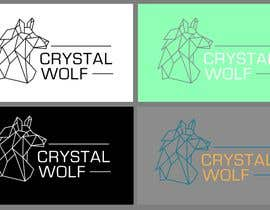 #156 untuk Design a Crystal Wolf Logo for new Crystal Inspired Business oleh CosmicOwl95