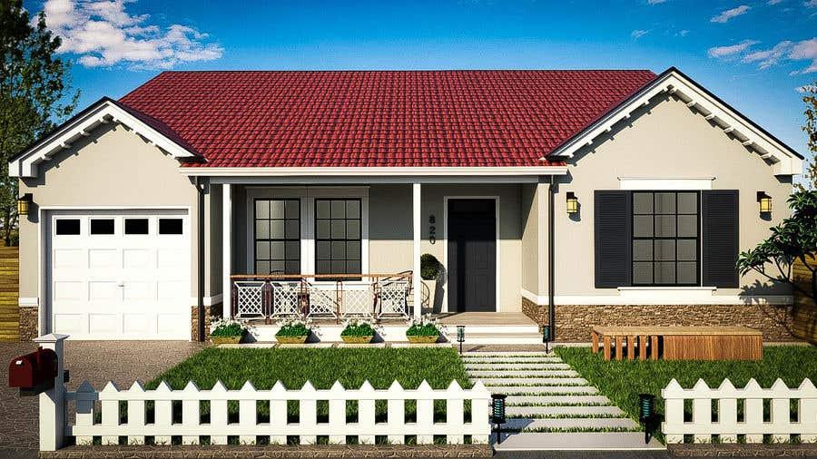 Bài tham dự cuộc thi #                                        61                                      cho                                         3D Renderings House Front Elevation
