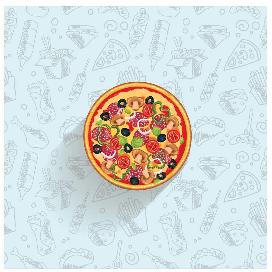 Конкурсная заявка №15 для Military target pizza logo