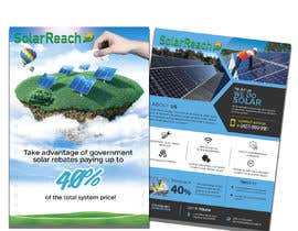 #88 for Design me a single page back & front advertisement pamphlet for my solar installation company af andresarjona