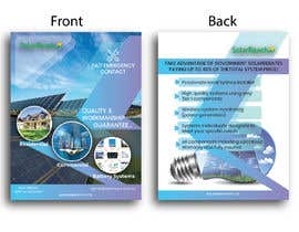 #90 for Design me a single page back & front advertisement pamphlet for my solar installation company af freelanceworldin