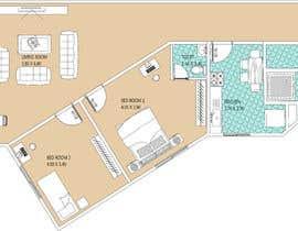 Nro 7 kilpailuun Re-design an apartment käyttäjältä saaahin