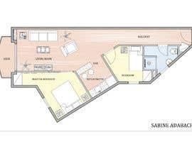 Nro 23 kilpailuun Re-design an apartment käyttäjältä SabinaAdabachy