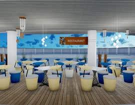 Nro 14 kilpailuun Need an interior designer to build the perspective design for our Japanese restaurant's outdoor space (about 54sqm) please follow the concept given below käyttäjältä sundaralakshmi55