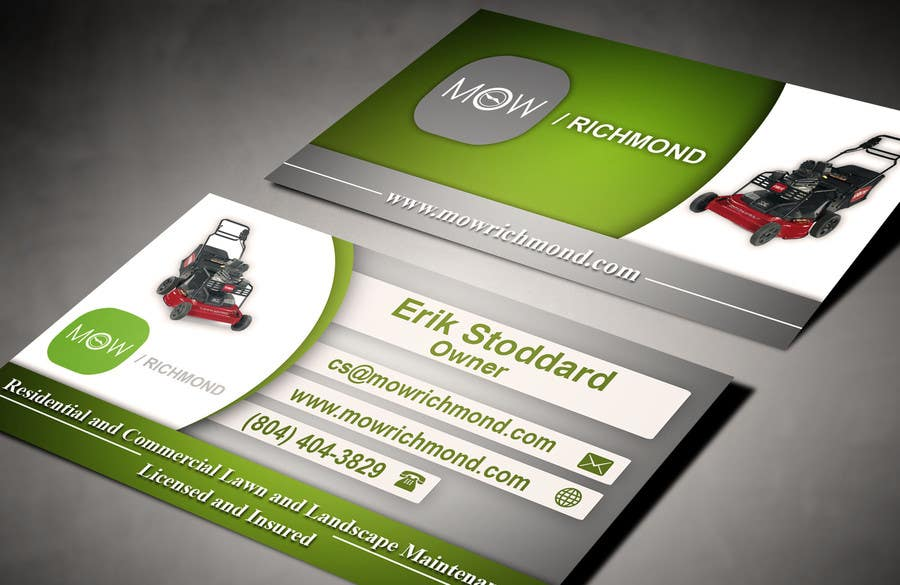 Bài tham dự cuộc thi #                                        6                                      cho                                         Design some Business Cards for Lawn Care Business