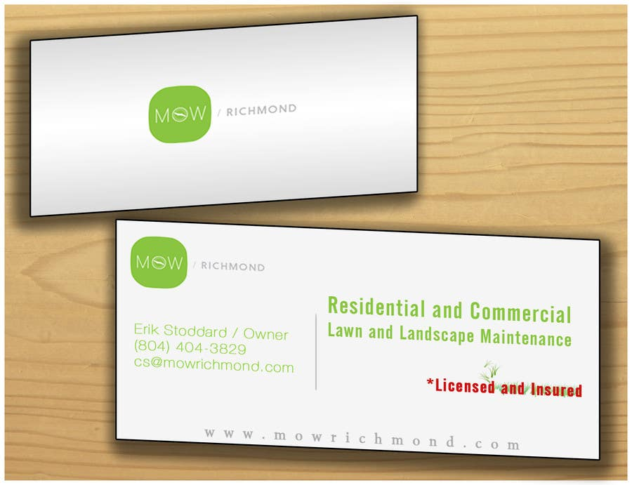 Bài tham dự cuộc thi #                                        5                                      cho                                         Design some Business Cards for Lawn Care Business