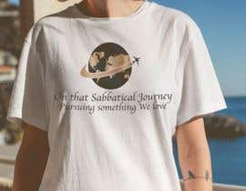 #8 для I need a travel symbol that black and gold globe with a black plane flying around the globe.    Shirt text (On That Sabbatical Journey Pursuing Something We Love. от sharpe10focu