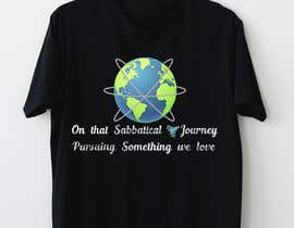 #32 для I need a travel symbol that black and gold globe with a black plane flying around the globe.    Shirt text (On That Sabbatical Journey Pursuing Something We Love. от Sha7en