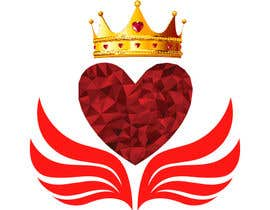 #80 untuk Create a heart with wings and crown Vector Image oleh Rezeka