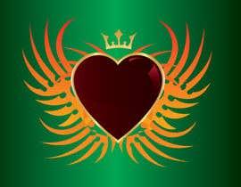 #111 untuk Create a heart with wings and crown Vector Image oleh shiekhrubel