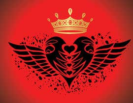 #113 for Create a heart with wings and crown Vector Image by shiekhrubel