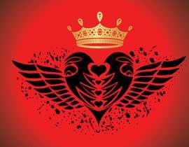 #113 untuk Create a heart with wings and crown Vector Image oleh shiekhrubel