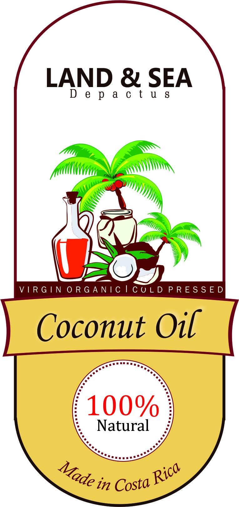 Kilpailutyö #43 kilpailussa Coconut oil logo
