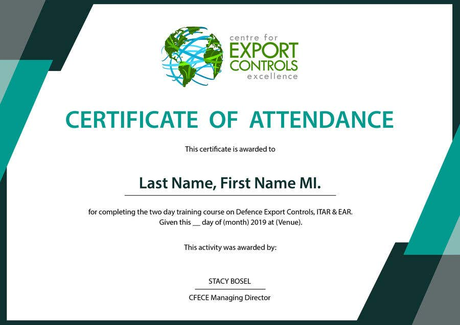 Contest Entry #2 for Certificate of Attendance Template