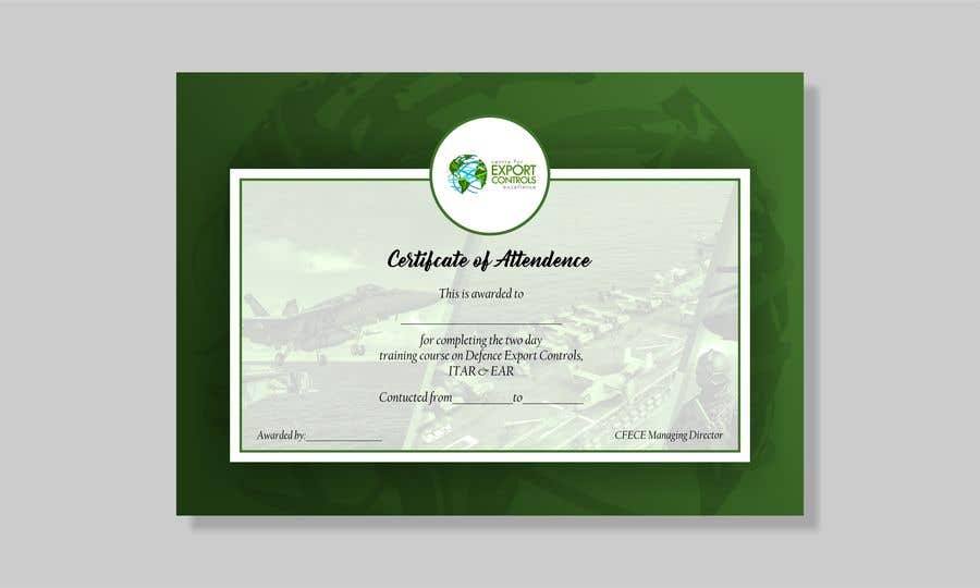 Contest Entry #11 for Certificate of Attendance Template