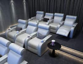 #17 untuk Photo Realistic 3D Rendering of Home Cinema oleh levitatefactory